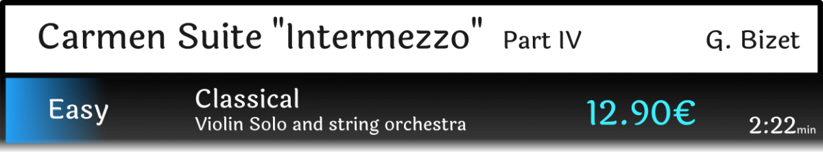 "Carmen Suite part IV ""Intermezzo"""