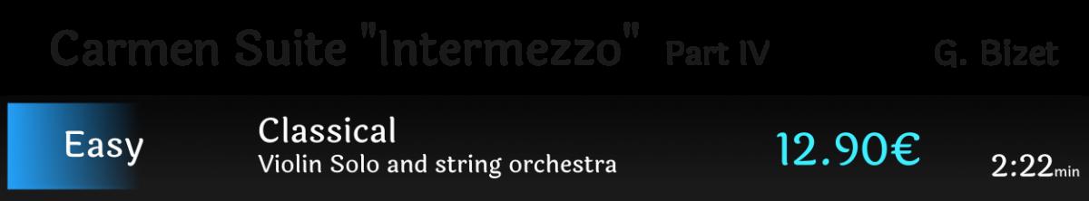 """Carmen Suite part IV """"Intermezzo"""""""