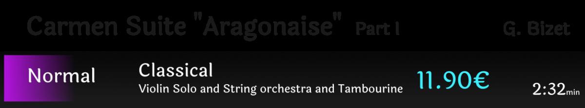 """Carmen Suite part I """"Aragonaise"""""""