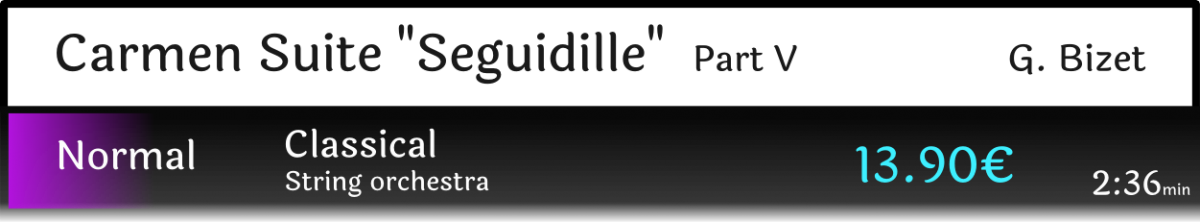 "Carmen Suite part V ""Seguidille"""