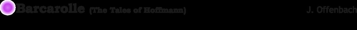 barcarolle Hoffman