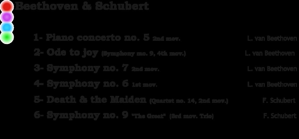 beethoven & schubert M