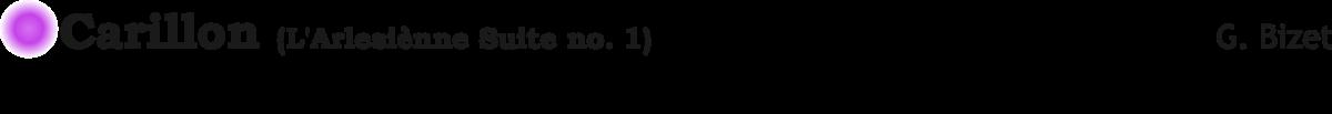Carillon Arlesienne