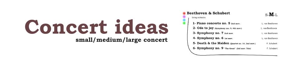 concert ideas