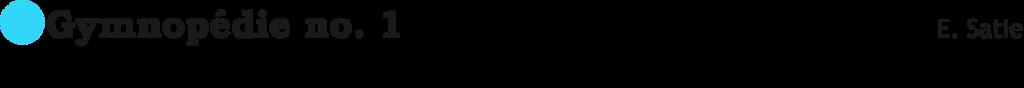 Gymnopedie 1