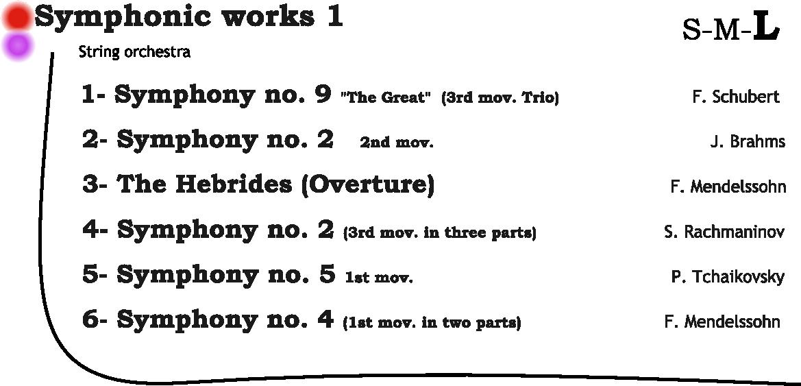 symphonic works 1 L