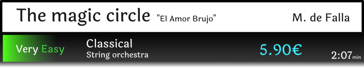 "The Magic Circle from ""El Amor Brujo"""